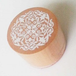 Round Rubber Stamp - Floral Design 6