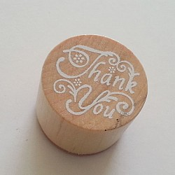Round Rubber Stamp - Thank You