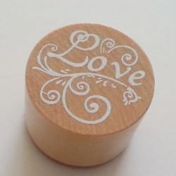 Round Rubber Stamp - Love