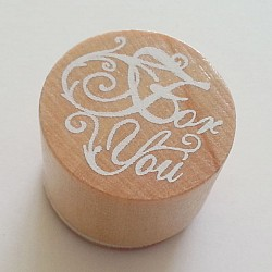 Round Rubber Stamp - For You