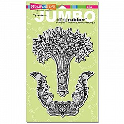 Stampendous Jumbo Cling Rubber Stamp - Baroque Bouquet