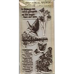 Tim Holtz Visual Artistry Clear Stamps - Flights of Fancy