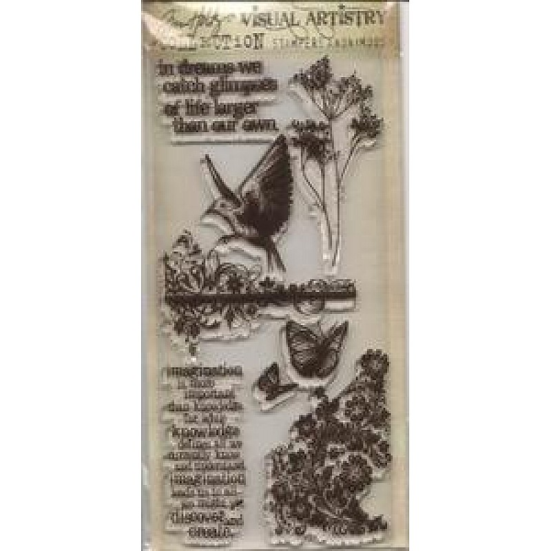 Buy Tim Holtz Visual Artistry Clear Stamps Flights Of