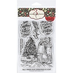 """Colorado Craft Company Clear Stamps 4""""X6"""" - Mommy Kissing Santa Lovely Legs"""