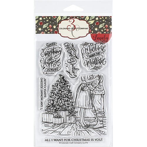 Colorado Craft Company Clear Stamps 4X6 - Mommy Kissing Santa Lovely Legs