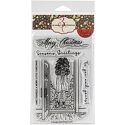 """Colorado Craft Company Clear Stamps 4""""X6"""" - Winter Season Poinsettia Lovely Legs"""
