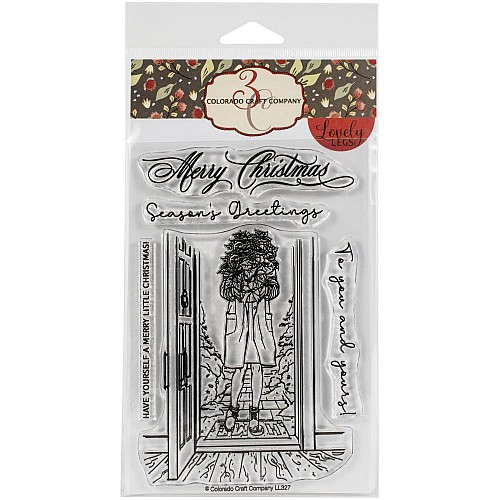 Colorado Craft Company Clear Stamps 4X6 - Winter Season Poinsettia Lovely Legs