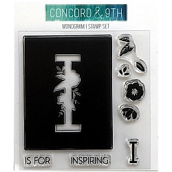 """Concord & 9th Clear Stamps 4""""X4"""" - Monogram I"""