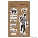 CrafTangles Photopolymer Stamps - Dad My Superhero