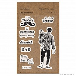 CrafTangles Photopolymer Stamps - Dad My Superhero