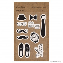 CrafTangles Photopolymer Stamps - Best Guy Ever