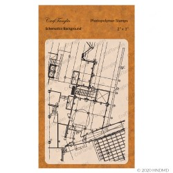CrafTangles Photopolymer Stamps - Schematics Background