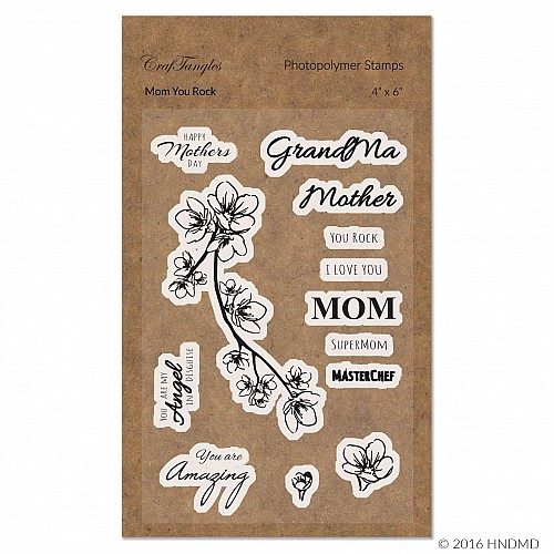 CrafTangles Photopolymer Stamps - Mom You Rock
