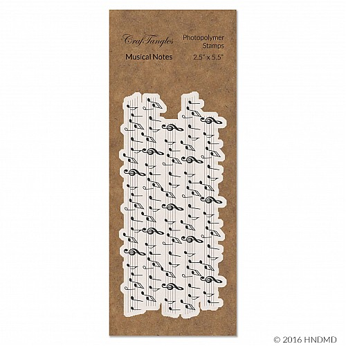CrafTangles Photopolymer Stamps - Musical Notes