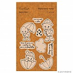 CrafTangles Photopolymer Stamps - Rain or Shine