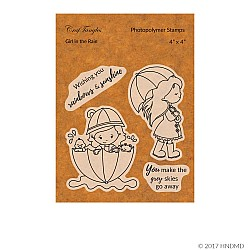 CrafTangles Photopolymer Stamps - Girl in the Rain