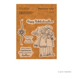 CrafTangles Photopolymer Stamps - Happy Rakshabandhan