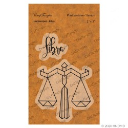 CrafTangles Photopolymer Stamps - Horoscopes - Libra