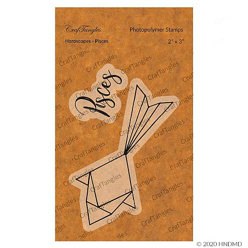CrafTangles Photopolymer Stamps - Horoscopes - Pisces