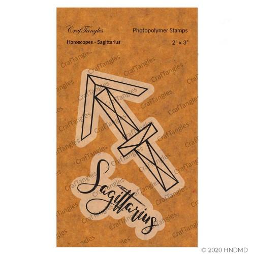 CrafTangles Photopolymer Stamps - Horoscopes - Sagittarius