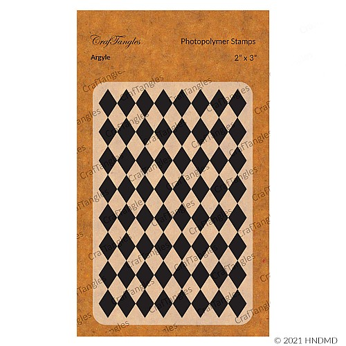 CrafTangles Photopolymer Stamps - Argyle