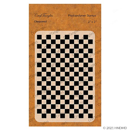 CrafTangles Photopolymer Stamps - Chequered