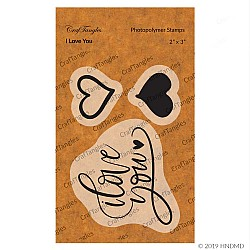 CrafTangles Photopolymer Stamps - I Love You
