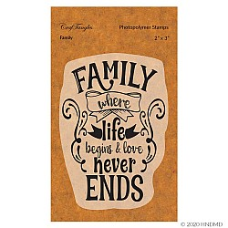 CrafTangles Photopolymer Stamps - Family