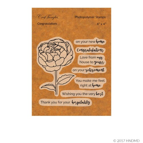 CrafTangles Photopolymer Stamps - Congratulations