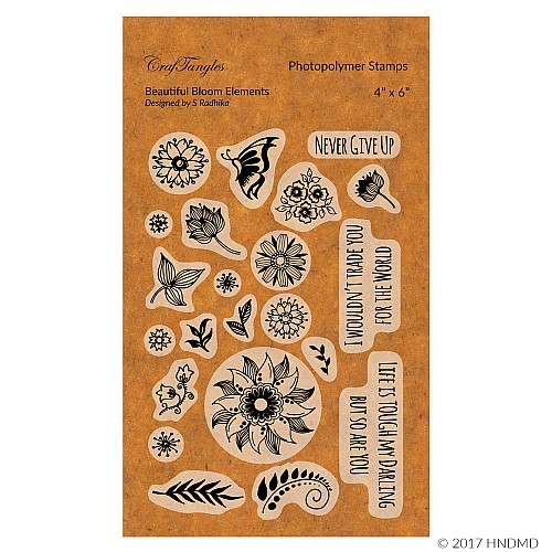 CrafTangles Photopolymer Stamps - Beautiful Bloom Elements