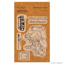 CrafTangles Photopolymer Stamps - Celebrating Diwali