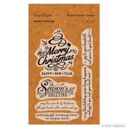CrafTangles Photopolymer Stamps - Seasons Greeting