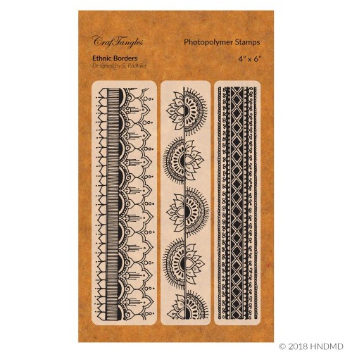 CrafTangles Photopolymer Stamps - Ethnic Borders