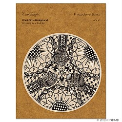 CrafTangles Photopolymer Stamps - Floral Circle Background