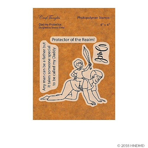 CrafTangles Photopolymer Stamps - Dad my Protector