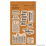 CrafTangles Photopolymer Stamps - Happy Fathers Day