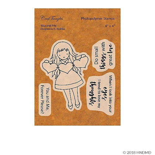 CrafTangles Photopolymer Stamps - You and Me