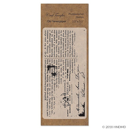 CrafTangles Photopolymer Stamps - Old Newspaper