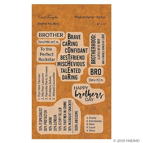 CrafTangles Photopolymer Stamps - Brother you Rock