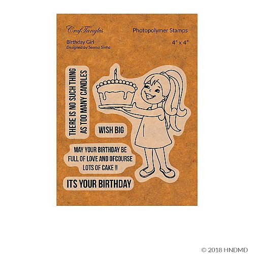 CrafTangles Photopolymer Stamps - Birthday Girl