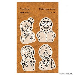 CrafTangles Photopolymer Stamps - People of India