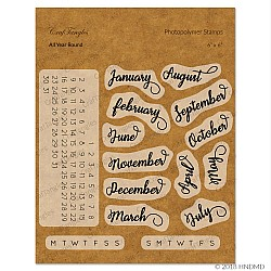 CrafTangles Photopolymer Stamps - All round the Year (Calendar stamp)