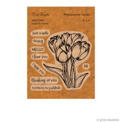 CrafTangles Photopolymer Stamps - Just a Note