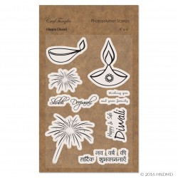 CrafTangles Photopolymer Stamps - Happy Diwali