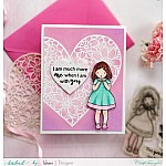 CrafTangles Photopolymer Stamps - I Love You (4 by 4 stamp)