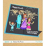 CrafTangles Photopolymer Stamps - Diwali Greetings