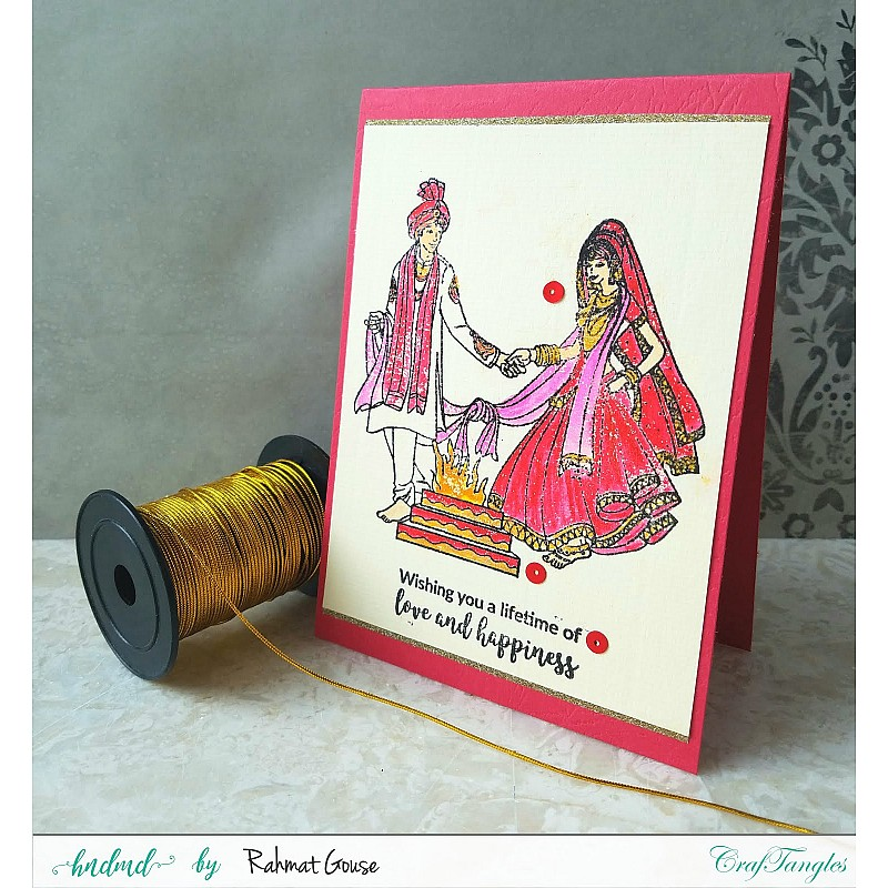 Buy Craftangles Photopolymer Stamps Indian Wedding