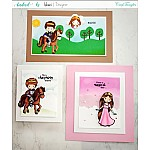 CrafTangles Photopolymer Stamps - Little Princess (4 by 4 stamp)