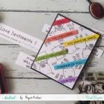 CrafTangles Sentiment Sheets  - Love Sentiments 1 (2 sheets of A4)