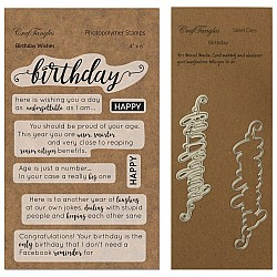 CrafTangles co-ordinated Stamp and Die Set - Birthday Wishes